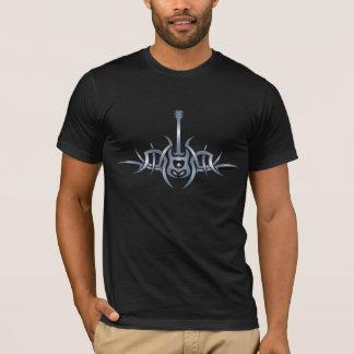 Camisa tribal del tatuaje de la guitarra