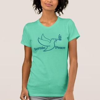 Camisa verde bilateral del pájaro de la paz de las