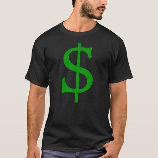 Camisa verde del dinero de la muestra de dólar