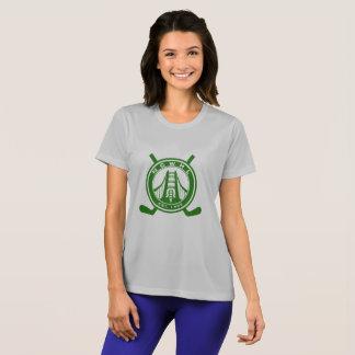 Camisa verde del funcionamiento del logotipo