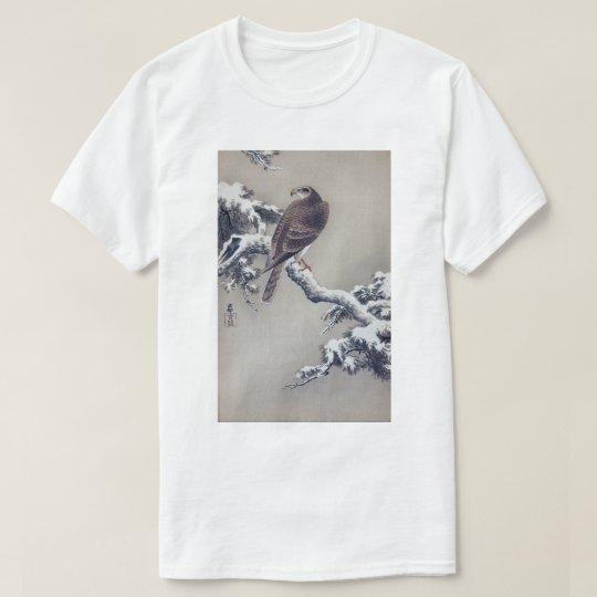 Camiseta 松に鷹, halcón del 古邨 en el árbol de pino, Ohara