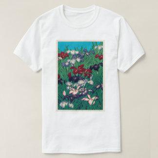 Camiseta 菖蒲, iris, Hasui Kawase, grabar en madera