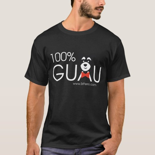 Camiseta 100% Guau black
