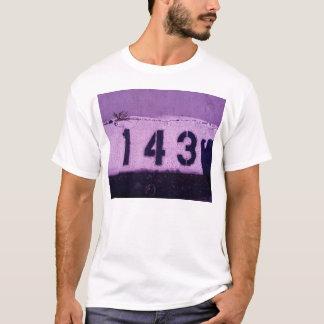 Camiseta 143 = te amo