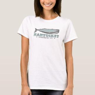 Camiseta 1671 de Nantucket mA inc. de la ballena