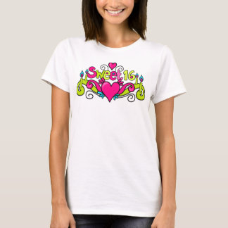 camiseta 16 del dulce dieciséis
