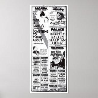 Camiseta 1920 de los anuncios de la película del v póster