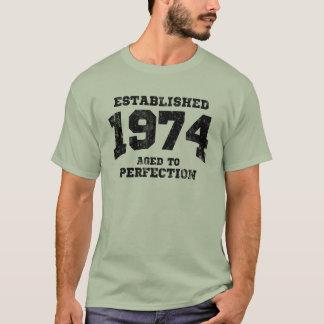 Camiseta 1974 establecidos envejecidos a la perfección