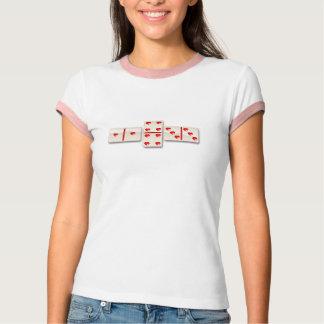 Camiseta 1-4-3 dominós del corazón