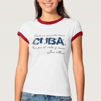 Camiseta 1 de la poesía de Cuba Jose Marti