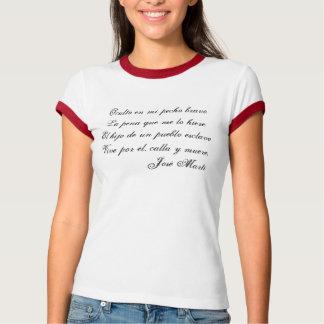 Camiseta 1 de la poesía de Jose Marti