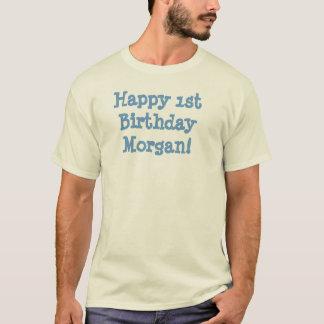 Camiseta ¡1r cumpleaños feliz Morgan!