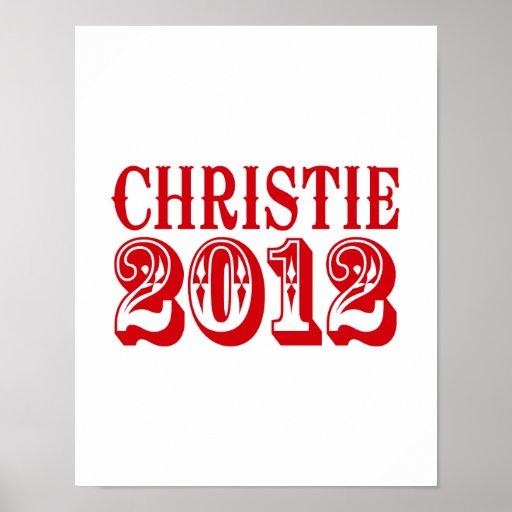 CAMISETA 2012 DE CHRISTIE POSTER