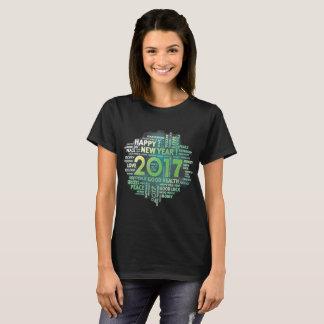Camiseta 2017 de la Feliz Año Nuevo