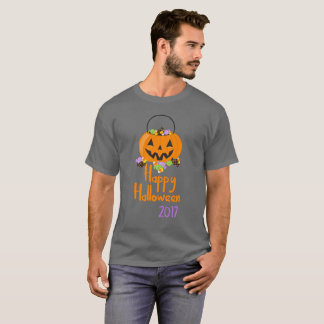 Camiseta 2017 del cubo del caramelo del feliz