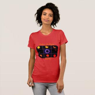 Camiseta 2017 fases del eclipse solar