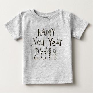 Camiseta 2018 del bebé de la Feliz Año Nuevo