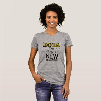 Camiseta 2018 el año de nuevos principios