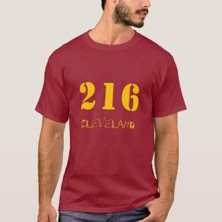 Camiseta 216 vino y oro