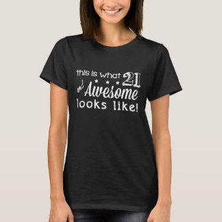 Camiseta ¡21 e impresionante! (Camisetas oscuras)