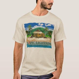 Camiseta 25to Relámpago tropical Hawaii de la división de