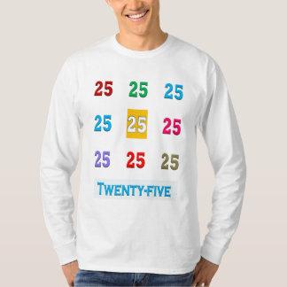Camiseta 25tos 25 vigésimos quintos REGALOS del aniversario
