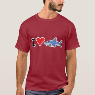 Camiseta 2 del shaaark del corazón I