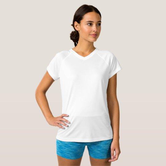 Camiseta para mujer Double-Dry con cuello en V de Champion, Blanco