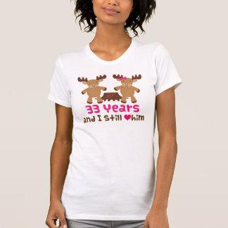 Camiseta 33ro Regalo del aniversario para ella