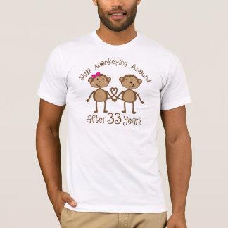 Camiseta 33ro regalos divertidos del aniversario de boda