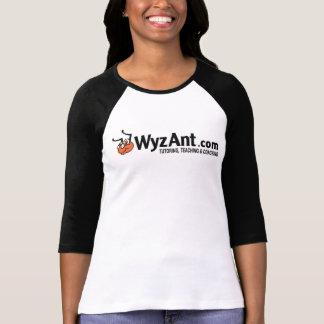 Camiseta 3/4 campanero T del logotipo de la longitud