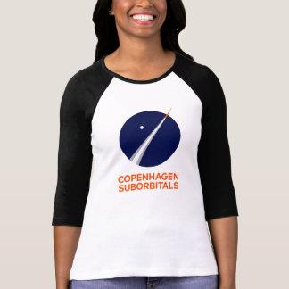 Camiseta 3/4 manga para mujer con el logotipo de Copenhague