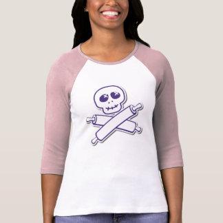 Camiseta 3/4 raglán para mujer de la manga