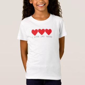 Camiseta 3 corazones en rojo con Las Vegas escrito debajo