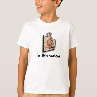 Camiseta 3D efecto el | Meerkat curioso que empuja fuera de