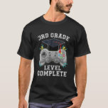 Camiseta 3Rd Grade Level Complete Gamer Class Of 2021 Gradu