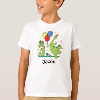 Camiseta 3ro cumpleaños de Dino