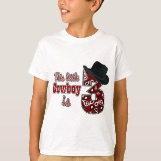 Camiseta 3ro cumpleaños del pequeño vaquero
