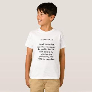 Camiseta 40:16 del salmo para los niños