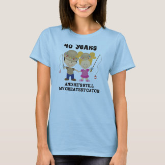 Camiseta 40.o Regalo del aniversario de boda para ella
