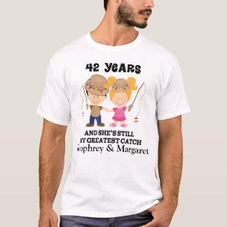Camiseta 42.o Regalo de encargo del aniversario para él