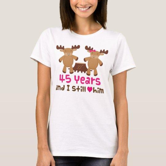 Camiseta 45.o Regalo del aniversario para ella