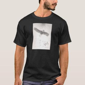 Camiseta 4' th del águila calva de los fuegos artificiales