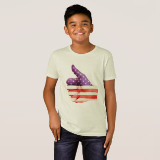 Camiseta 4to de los pulgares de la bandera americana de