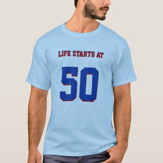 Camiseta 50.o Comienzo de la vida del chiste del cumpleaños