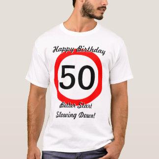 Camiseta 50.o Límite de velocidad de la señal de tráfico