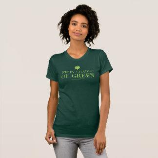 Camiseta 50 sombras de t0shirt verde