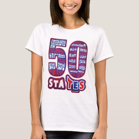 CAMISETA 50 STATES USA