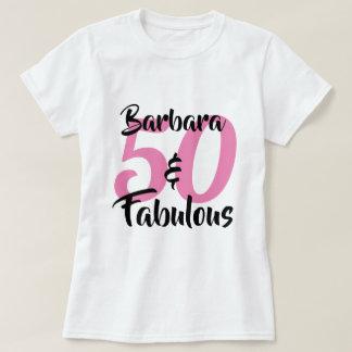 Camiseta 50 y fiesta de cumpleaños personalizada fabulosa