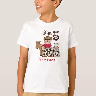 Camiseta 5to cumpleaños del vaquero